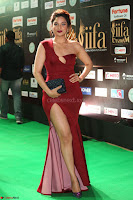 Natasha Nebasha in a Leg Slit Sleeveless Stunning Red Gown at IIFA Utsavam Awards 2017 071.JPG