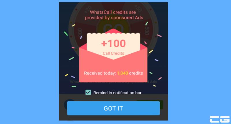 WhatsCall Credits