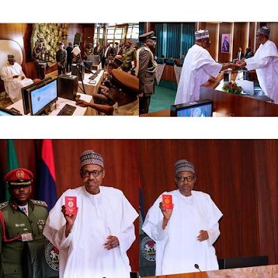 Buhari Receives New Nigerian Passport With 10-year Validity