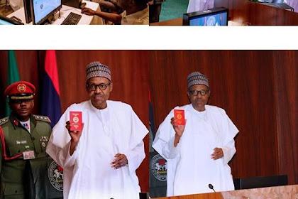 Buhari Receives New Nigerian Passport With 10-years Validity