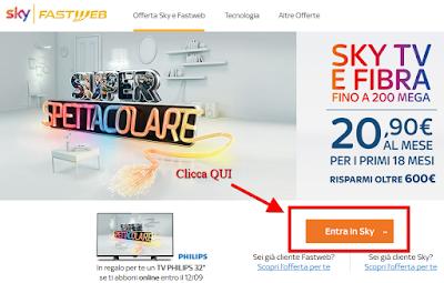 "Offerta Sky + Fastweb TV Philips 32"" Gratis"
