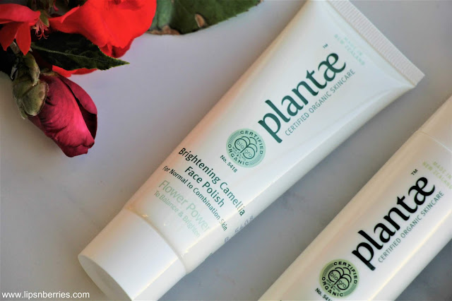 Plantae Brightening camellia face polish review