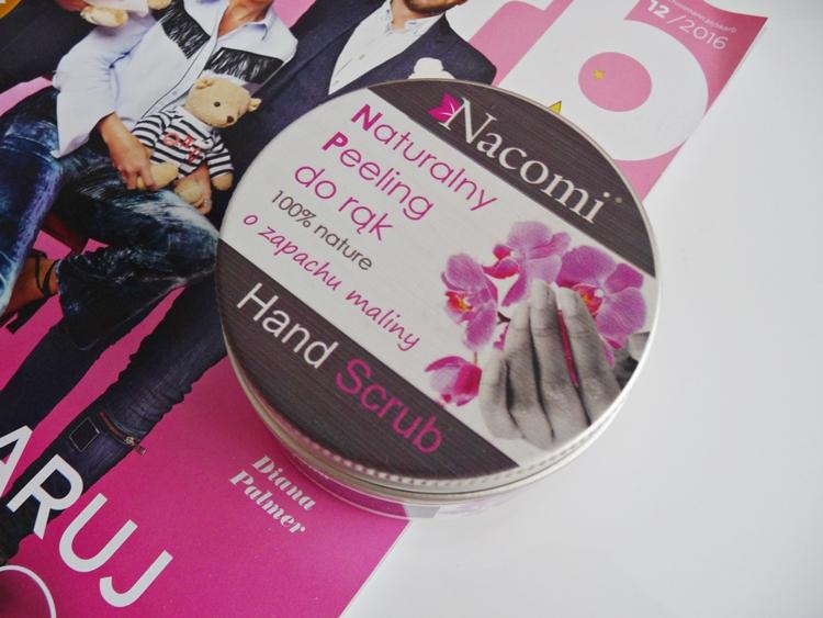 Naturalny peeling do rąk o zapachu maliny Nacomi