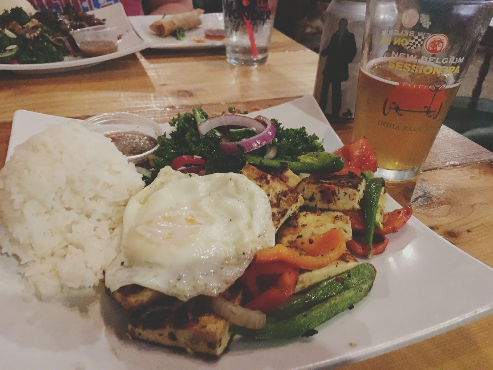 lemongrass tofu at Hughie's - A restaurant/bar in Houston, Texas