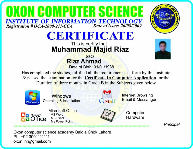 Goraya Mobile and Computer: Computer Short Courses Certificate free ...