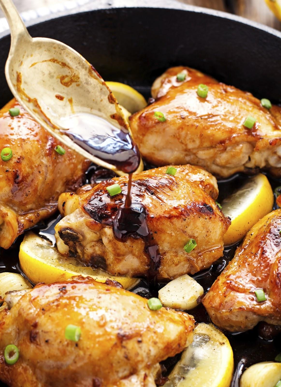 Honey Lemon Garlic Ginger Chicken