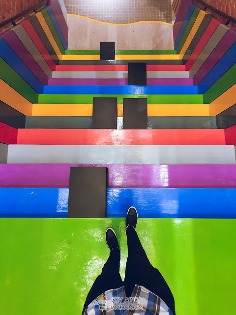 Most Instagrammable spot in Kuala Lumpur The LINC KL Mall with colorful owl mural arts colorful stairs