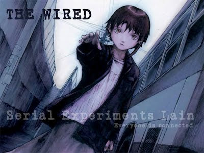 Lain, the main character of the anime