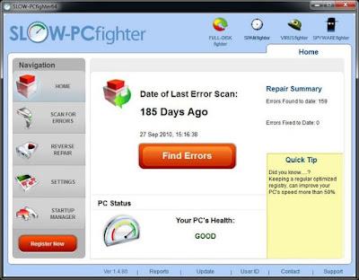 تحميل برنامج تسريع الكمبيوتر 2016 SLOW PCfighter