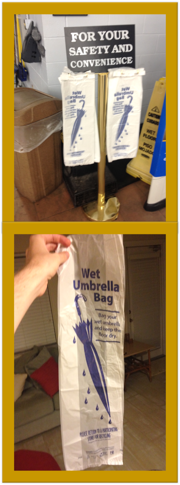 Walmart wet umbrella bag