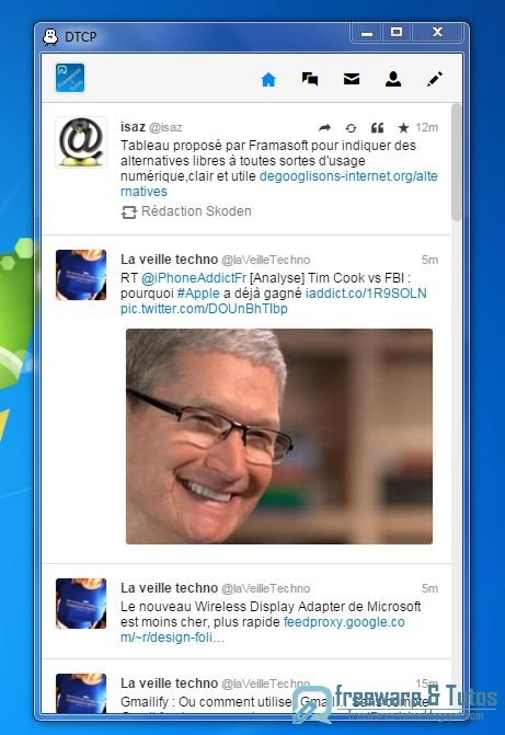 DTCP : un client Twitter pour votre ordinateur