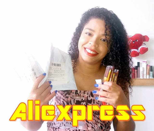Achegue-se! Comprinhas: AliExpress - Pincéis baratos / Wow! Long Lasting - Lip Color