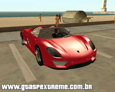 Porsche 918 Spider para grand theft auto