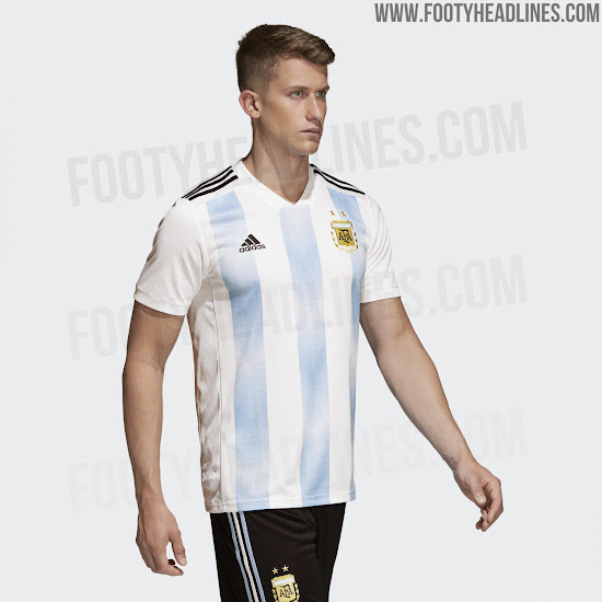 6c12820b5db Argentina 2018 World Cup Home Kit Released - Footy Headlines