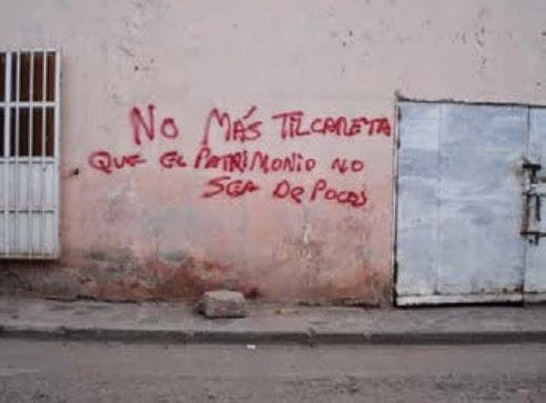 Tilcara graffiti Patrimonio Unesco