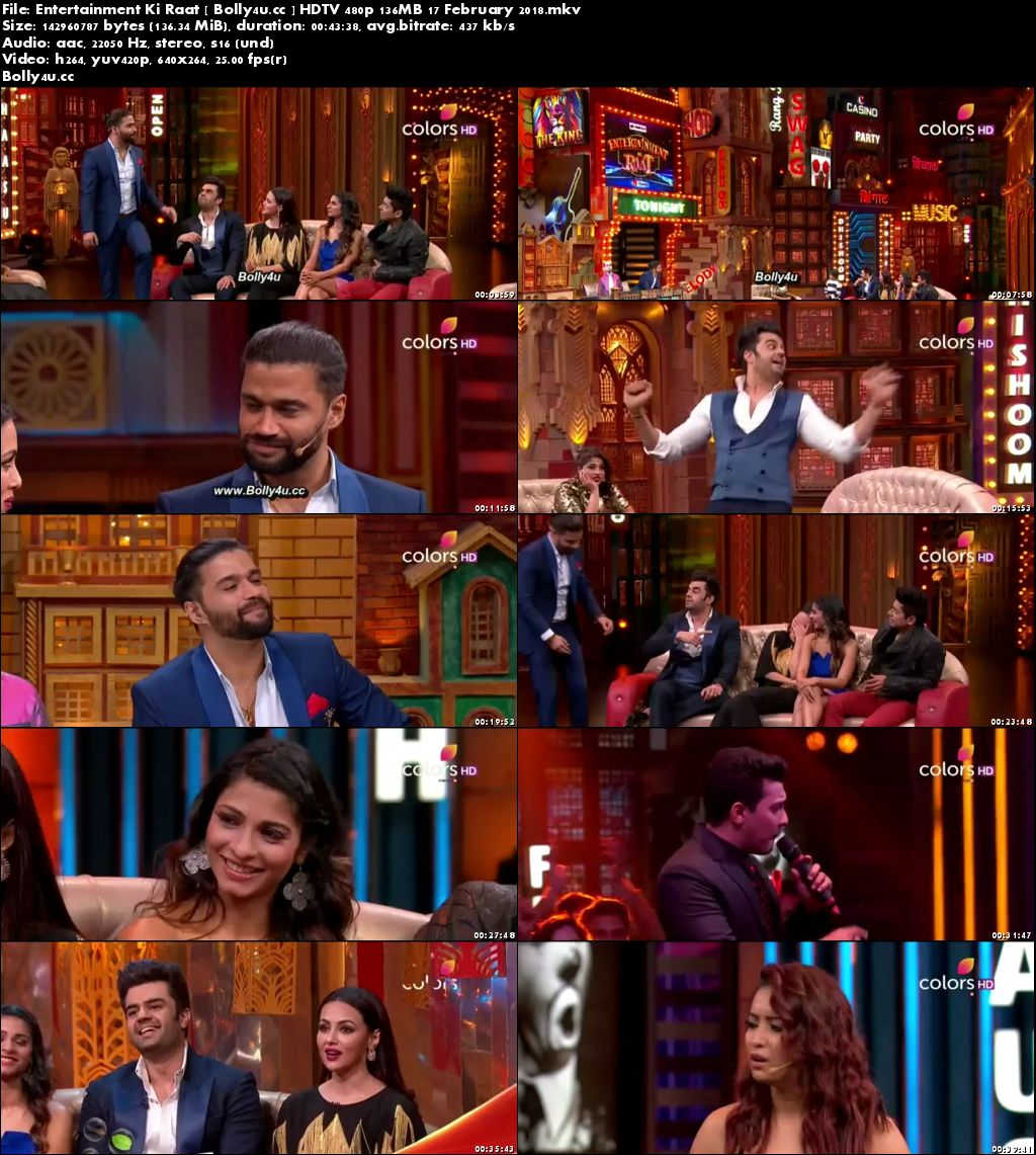Entertainment Ki Raat HDTV 480p 130MB 17 February 2018 Download