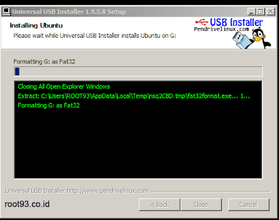 Prose menambhakn linux ke flashdisk