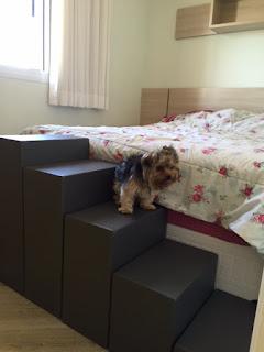 escadas para cães cama box