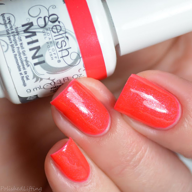 neon coral gel polish