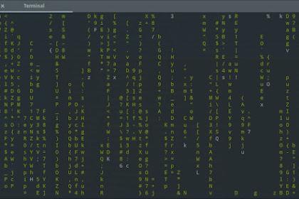 Efek Matrix di Terminal Linux
