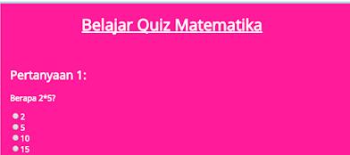 Tutorial Membuat Aplikasi Quiz Dengan Javascript dan HTML Keren