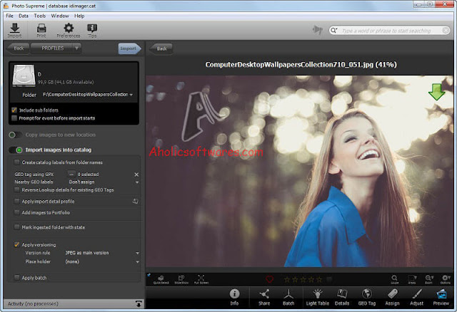 Photo Supreme is cross platform, single and multi user Digital Asset Management software.