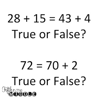 True/false equations are a quick time filler