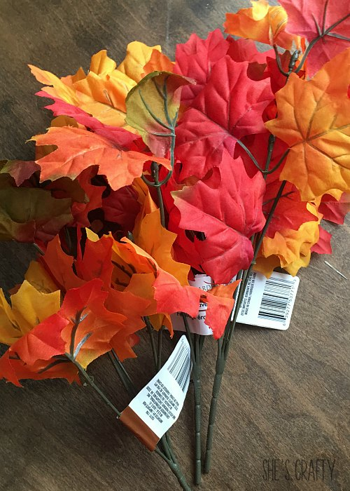 leaves from dollar tree