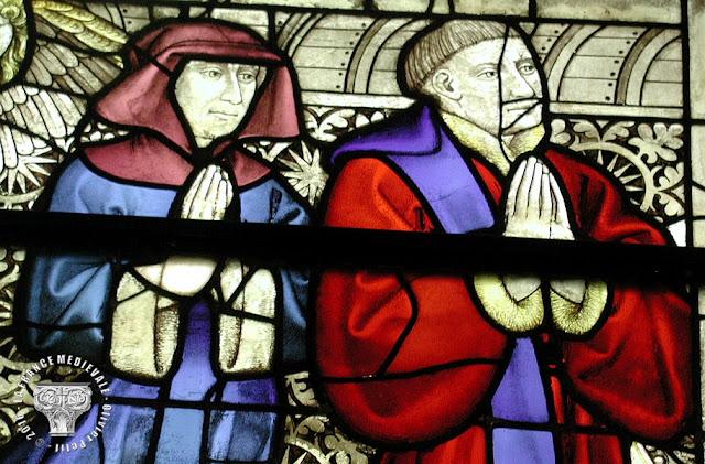 DIJON (21) - Musée des Beaux Arts : Vitrail de la Sainte-Chapelle (XVe siècle) : Pierre Berbis