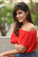 Rhea Chakraborty in Red Crop Top and Denim Shorts Spicy Pics ~  Exclusive 273.JPG