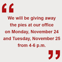 Would you like a free pumpkin pie from The Anderson Group