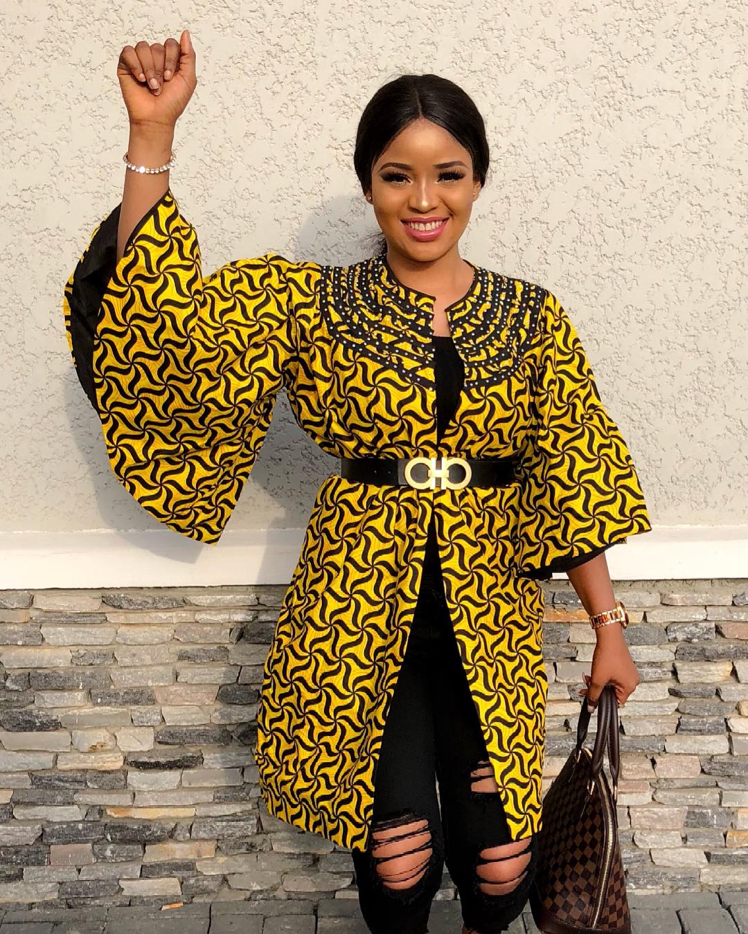 Ankara Kimono Styles ; Trendy Ankara Styles Ladies Are Rocking Now - Zaineeyu0026#39;s Blog