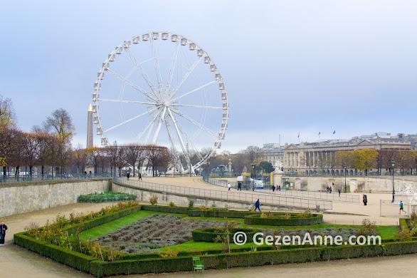 Tuileries parkı, Concorde meydanı çıkışı, Paris
