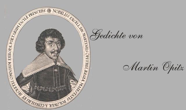 Bild und Gedichte des Barockdichters Opitz