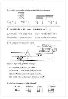 Avaliação de matemática - 5º ano