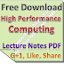 Lecture Notes on High Performance Computing PDF