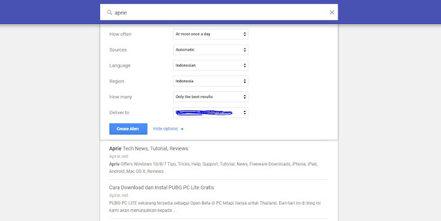 Cara Mengatur Google Alerts untuk Topik Tertentu