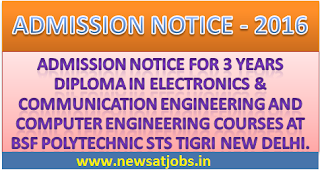 bsf+polytechnic+courses+admission+notice+2016