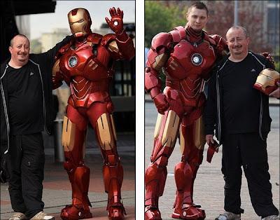 Iron Man hecho con cartón y fibra de vidrio