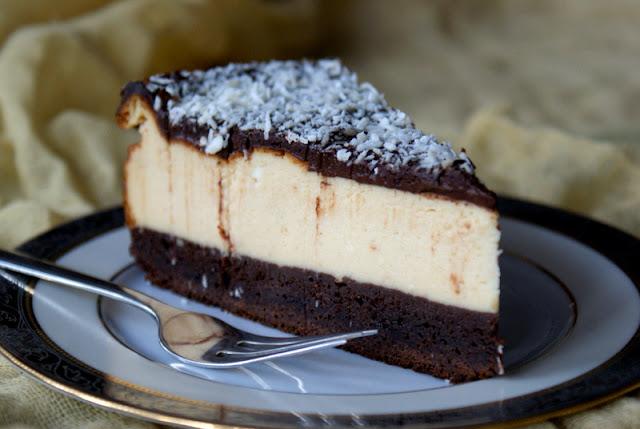sernik, brownie, sernik brownie,latwy sernik,jak zrobić sernik z sera z wiadeka,