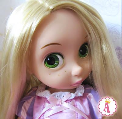 Лицо крупным планом. Игрушка Disney Animators Collection Rapunzel. Обзоры кукол