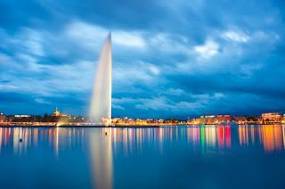 Geneva Jet D'eau. Air mancur