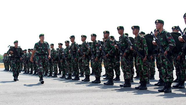 Upacara Penyambutan Satgas Karhutla Brigif Mekanis Raider 6 Kostrad  di Solo