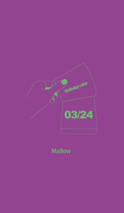 Birthday color March 24 simple