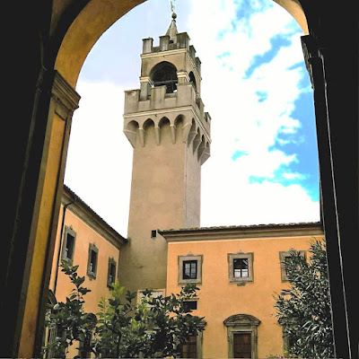 the tower of Montegufoni castle