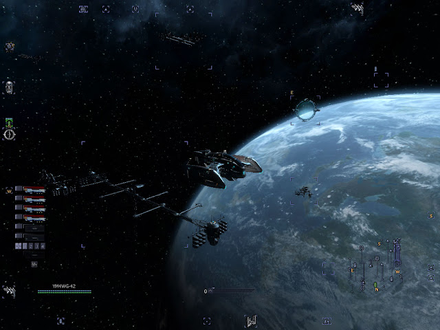 Space Combat screen