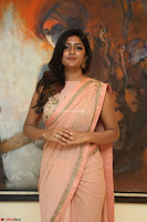 Eesha Rebba in beautiful peach saree at Darshakudu pre release ~  Exclusive Celebrities Galleries 045.JPG