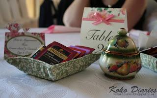 Green Fabric Tea Tray and Green China