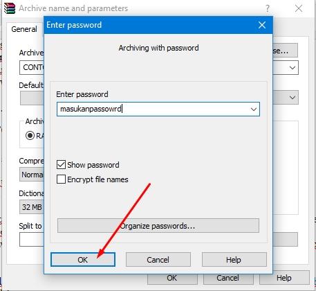 Cara Memberi Password pada File Winrar ZIP