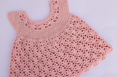 8 - Crochet Imagen Vestido rosa a crochet y ganchillo Majovel Crochet
